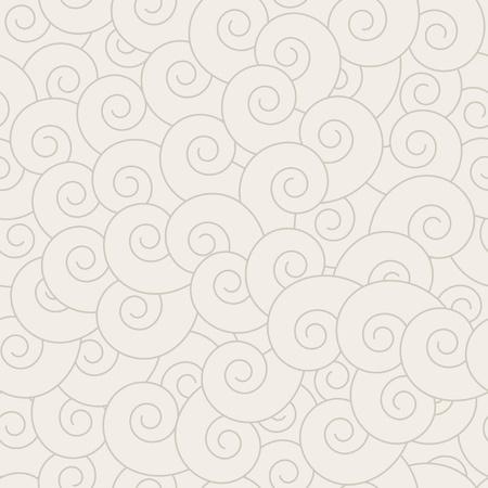 volute: Spirale senza soluzione di continuit� modello - sfondo vettoriale per la replica continua. Vedere pi� facilmente i modelli nel mio portafoglio. Vettoriali