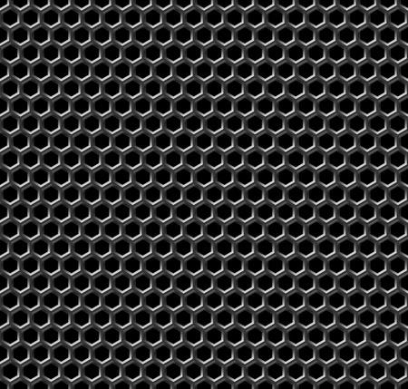 金属格子のシームレスなパターン - 継続的なレプリケーションのためのベクトルの背景。私のポートフォリオのパターンよりシームレスに参照して