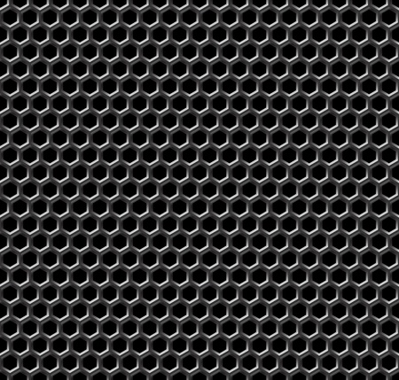 perfurado: Metal grid seamless pattern - vector background for continuous replicate. See more seamlessly patterns in my portfolio.