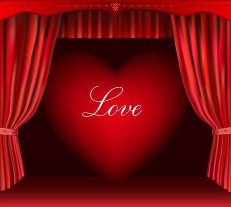 falsework: Heart and curtain.