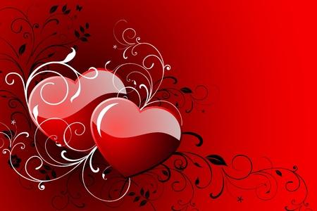 幸せなバレンタインの日グリーティング カード。  イラスト・ベクター素材