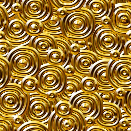 Seamlessly golden circles pattern. photo
