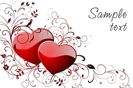 Happy Valentine's day greeting card with space for text. Vector