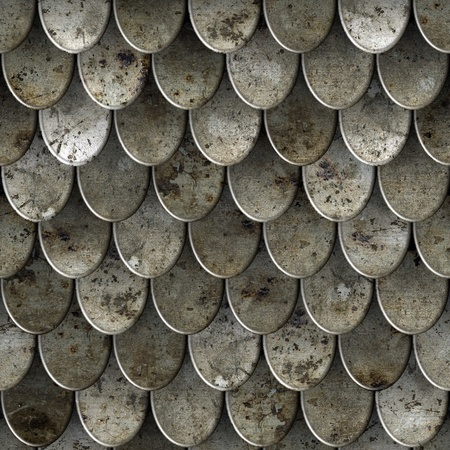 Cuirass seamless texture background. photo