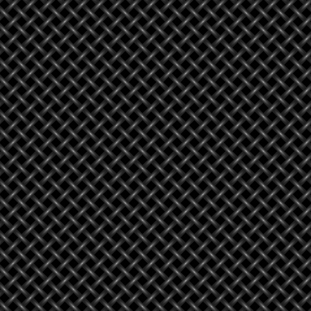 metal grate: Seamless woven background - vector pattern for continuous replicate. Illustration