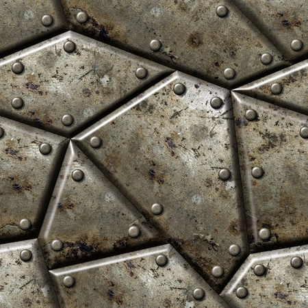 plating: Armor seamless texture background  - texture for continuous replicate. Stock Photo