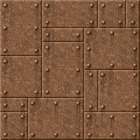 Rusty armor seamless texture background. See more seamlessly backgrounds in my portfolio. photo