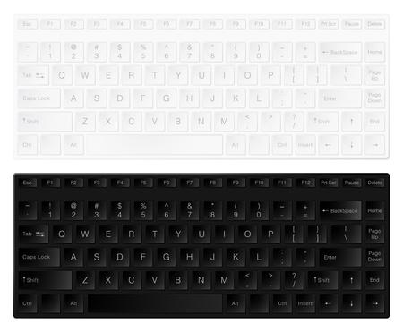 keypad: White and black keyboards isolated on white background.