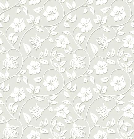 Floral sans soudure de fond - modèle pour répliquer en continu. Banque d'images - 12723249