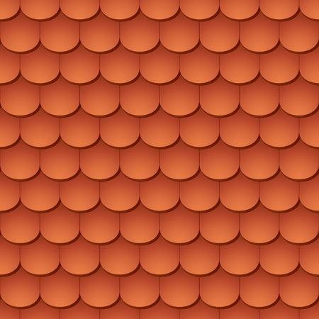 Naadloze terracotta dakpannen - patroon voor continue repliceren.