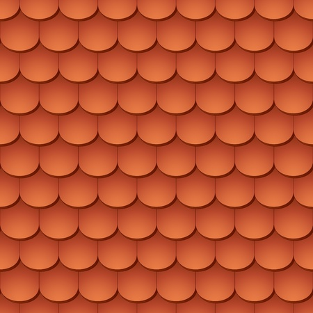 roof tiles: Seamless terracota roof tile - pattern for continuous replicate. Illustration