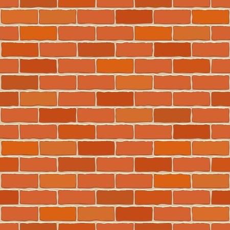 Naadloze vector bakstenen muur - een patroon dat voor continue repliceren. Vector Illustratie