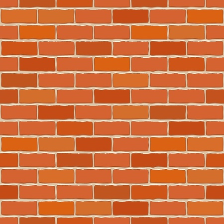 brick facades: Seamless vector brick wall - background pattern for continuous replicate.