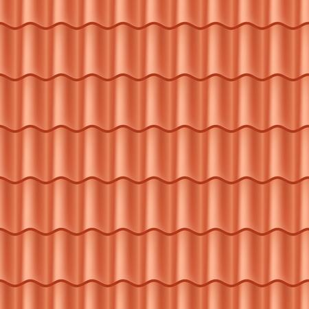 Naadloze terracotta dakpannen - patroon voor continue repliceren. Vector Illustratie