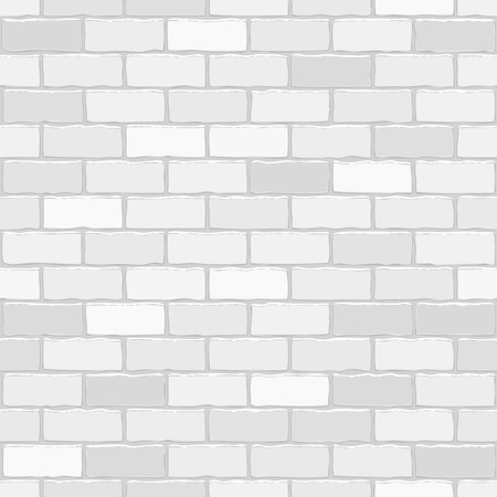 brick facades: Seamless vector white brick wall - background pattern for continuous replicate.