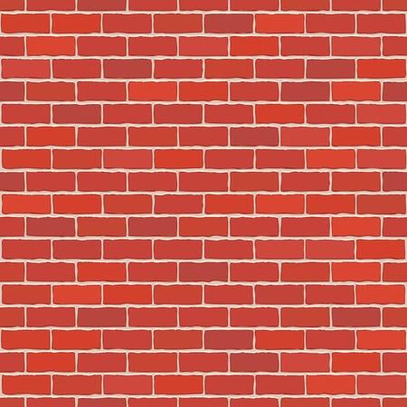brickwall: Seamless vector de color rojo pared de ladrillo - motivo de fondo para la r�plica continua.