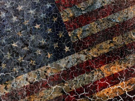 Grungy American flag background. photo