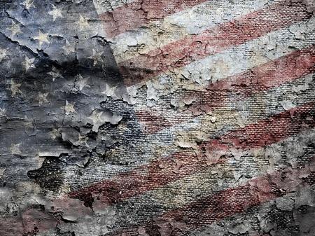 Fundo sujo da bandeira americana. Banco de Imagens