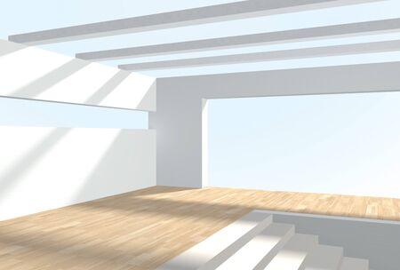 solarium: 3d interior. Stock Photo