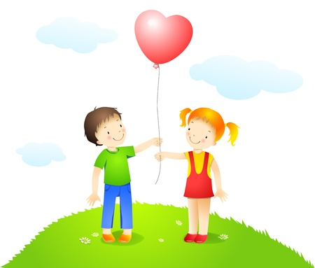 balloon girl: Boy and girl.