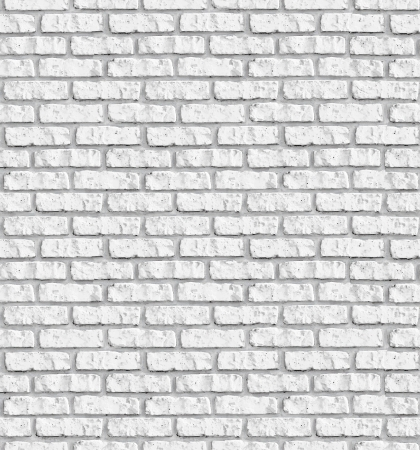 White brickwall seamless background - texture pattern for continuous replicate. See more seamless backgrounds in my portfolio. Stock Photo