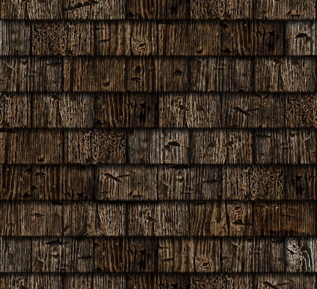 damaged roof: Wooden tile seamless background - texture pattern for continuous replicate. See more seamless backgrounds in my portfolio. Stock Photo
