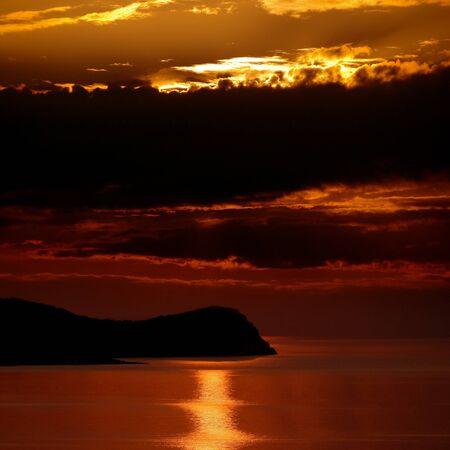 cusp: Sunrise over the sea  Stock Photo