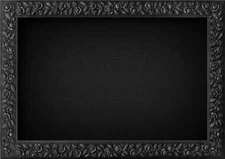 Dark frame with empty canvas. Stock Photo - 15552487