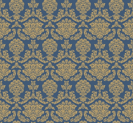 Seamless floral pattern - vector pattern for continuous replicate.  Vector