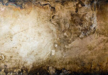oxidized: Grunge metal plate texture background.