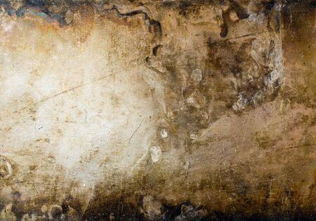 oxidated: Grunge placa de metal textura de fondo. Foto de archivo