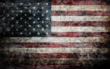 Grungy fond de drapeau américain. Banque d'images - 19429476