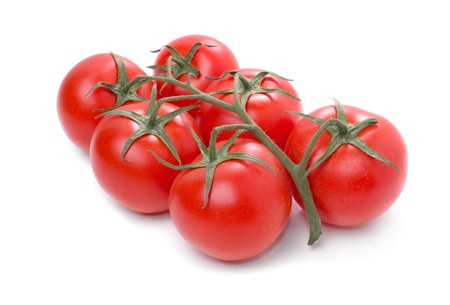 clusters: Tomato isolated on white background. Stock Photo