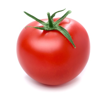 single object: Tomato isolated on white background. Stock Photo