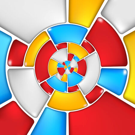 camber: Concentric colorful mosaic pattern