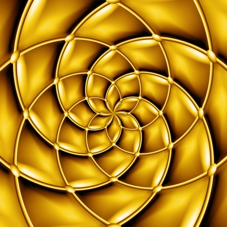 warped: Concentric golden pattern  Stock Photo