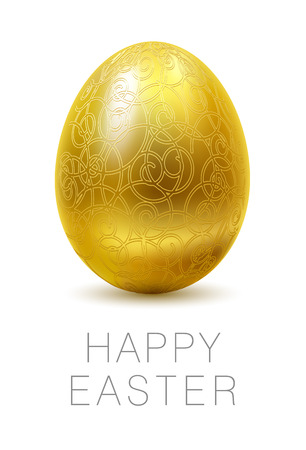 glassed: Happy Easter greeting card.