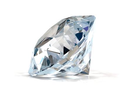 Diamant auf weißem Hintergrund Standard-Bild