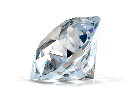 Diamant op witte achtergrond
