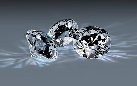 three object: Three diamonds  Stock Photo