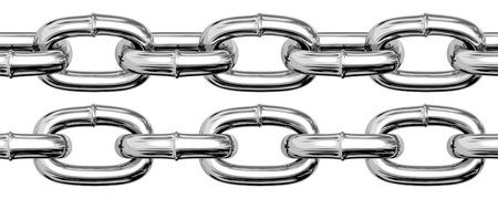 Seamless realistic chain set. Illustration