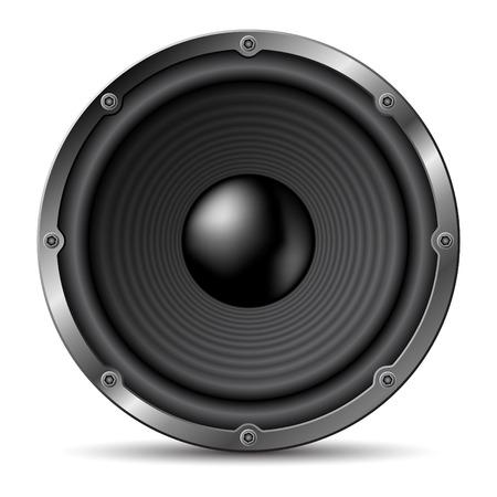 Loudspeaker on white background.