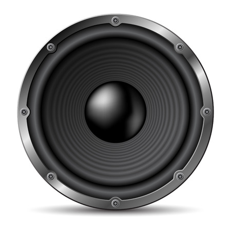 Loudspeaker on white background.