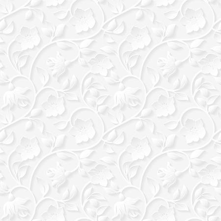 Seamless floral ornamental pattern. Imagens - 37690473