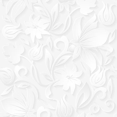 シームレスな花の装飾的なパターン。  イラスト・ベクター素材