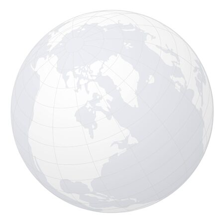 terrestrial: Globe on white background.