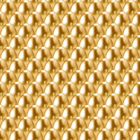 goldish: Seamless golden eggs background.