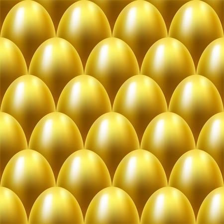 uova d oro: Seamless sfondo uova d'oro.
