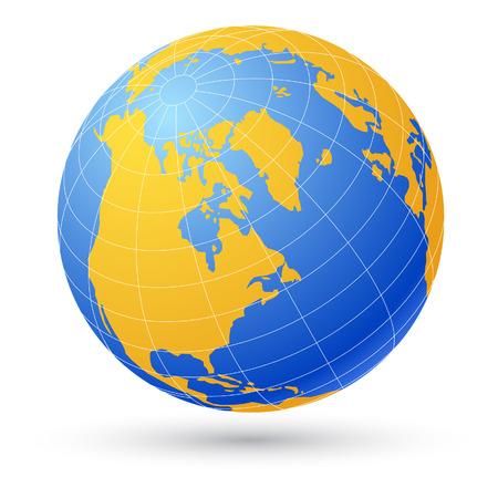 parallel world: Globe isolated on white. Illustration