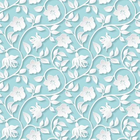 Ornamentales patrón floral transparente. Ilustración de vector